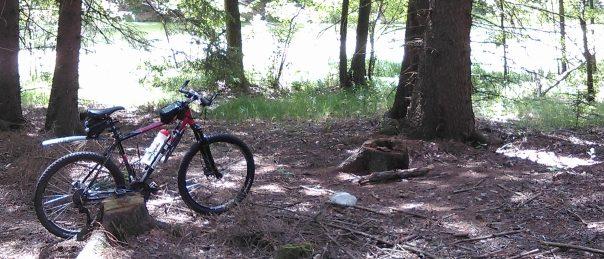 Na kole u Horního Čtvrtníku